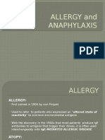 Allergy, Anaphylaxis and Systemic Mastocytosis