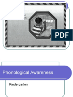 Kindergartner Phonological Awareness