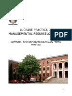 Lucrare Practica La Managementul Resurselor Umane