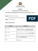 Programa Evento 1 y 2 de Junio 2017 Santa Cruz - Bolivia