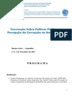 Comitê Da América Latina. Programa Da Convenção Sobre Corrupção Em Buenos Aires. Novembro de 2017