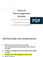 PHYSIO Samplex Thermoregulation