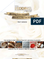 Wedding to-Do Checklist - 18 Months to After Your Wedding