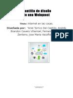 internet en las cosas - webquest