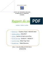 Rapport de Stage Assainissement