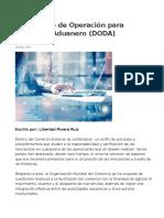 Documento de Operación para Despacho Aduanero