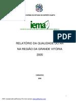 IEMA Relat-rio Da Qualidade Do Ar Na Grande Vit-ria 2005