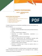 Desafio Profissional - Administração 5ª Série