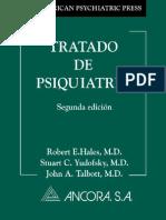 Tratado de Psiquiatría - Halles, Yudofsky y Talbott