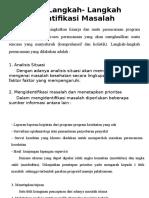 LO 1 Langkah- Langkah Identifikasi Masalah