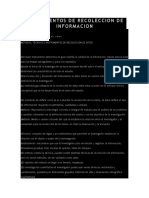 Instrumentos de Recoleccion de Informacion