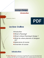 Introduction to Urban Planning and Design