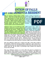 2017. Prevention of Falls in the Dementia Patient