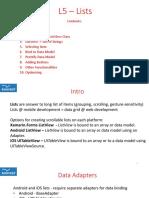 L5 - Lists