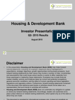 Housing Development Bank - Investor Relation Presentation Q2 -2015
