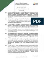 Reglamento de Regimen Academico Codificacion