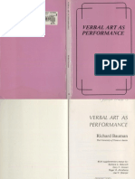 Verbal Arts and Performance