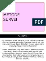 Metil Pta Metode Survei