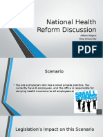 nurs 5010- national health reform discussion