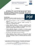 SECTIUNEA 1 ADMITERE DOCTORAT Metodologie Proprie U.M.F. Carol Davila Din Bucure Ti 1