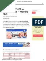 IBPS (SO) v IT Officer_ Exam Analysis – Morning Shift