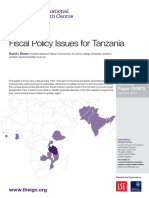 Fiscal Policy Issues for Tanzania