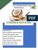 Proyecto de Extracción de aceite de coco