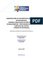 Informe Consolidado Directorio Establecimientos Turismo de Naturaleza 02 15
