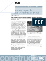 Detecting Leaks in Water-Distribution Pipes