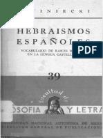 J Winiecki Hebraismos Espanoles 1959