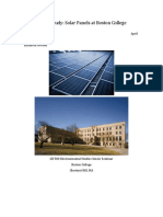 8 Solar Panels at Boston College Paper