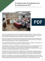 17-05-24 Inician regionales de oratoria sobre el Centenario de la Constitución Federal y Sonorense de 1917