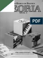 Piano Bastien TEORIA Nivel 1