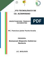 Emmanuel Investigacion Traduccion Eucariota