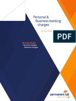 Permanent Tsb Personal and Business Banking Charges