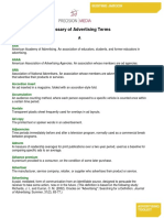 Glossary of Advertising Terms