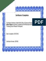 nurs 5001- nih certificate