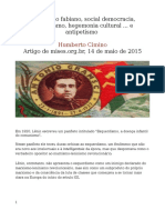 Socialismo Fabiano, Social Democracia, Gramscismo, Hegemonia Cultural ... e Antipetismo
