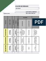 Matriz Identificación de Riesgos