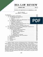 Nussbaum Emotions in Criminal Law