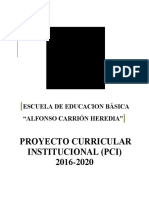 Pci Institucional 2016 2020 Ue Alfonso Carrion Heredia