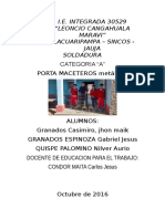 Proyecto Productivo Llacuaripampa Soldadura