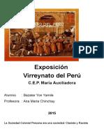Exposición Virreynato Del Peru