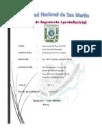 Plan HACCP de Avicola Giovanny