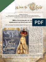 Summer 2017 Newsletter Patrons of Sacred Music
