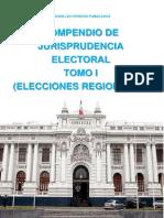 COMPENDIO DE JURISPRUDENCIA ELECTORAL TOMO I ELECCIONES REGIONALES