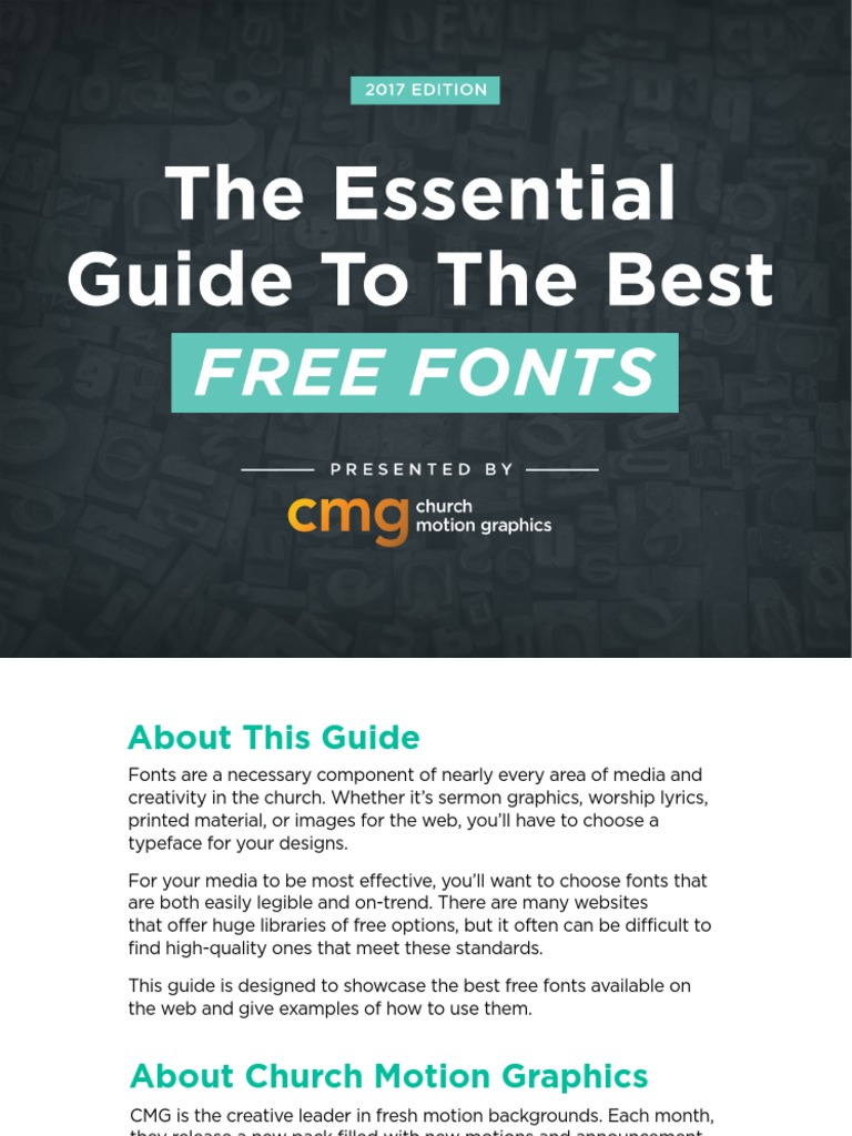 CMG The Essential Guide To Best Free Fonts