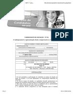 Formul Rio de Inscri o Do Candidato - PEP 1 Semestre 2010