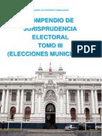 COMPENDIO DE JURISPRUDENCIA ELECTORAL TOMO III ELECCIONES MUNICIPALES