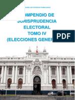 COMPENDIO DE JURISPRUDENCIA ELECTORAL TOMO IV ELECCIONES GENERALES